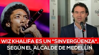 "Alcalde de Medellín llama ""sinvergüenza"" al rapero Wiz Khalifa"