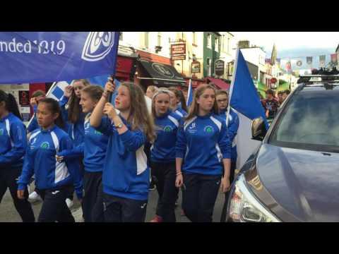 Entire Feile peil na nog parade through Killarney June 2016