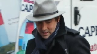 The Hobbit actor Lee Pace arriving at Today Show for interview