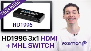 Fosmon HD1996 3X1 Port HDMI + Digital Analog Audio Switch Box (Support Ultra HD 4K, Full HD, 3D)
