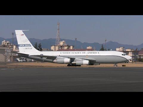 [4K]横田基地 OC-135B オープンスカイズ 黒煙出しながらの離陸 Yokota Open Skies