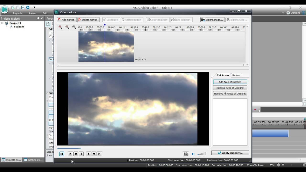 vsdc free video editor slow motion
