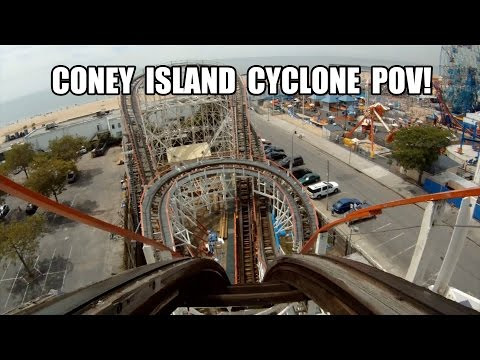 Coney Island Cyclone Roller Coaster POV! Happy 4th of July!