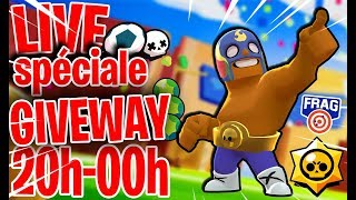 LIVE SPÉCIAL BRAWL STARS GIVEWAY GAME ABOS + JEUX AU CHOIX #giveway #brawlstars #supercell