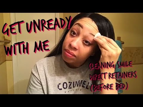 Get Unready With Me   Cleaning Smile Direct Retainers (325)