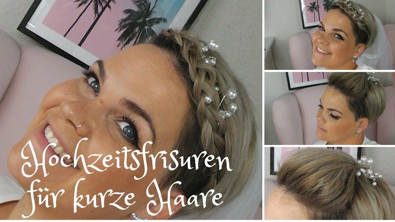 Hochzeitsfrisuren Fur Kurze Haare Youtube