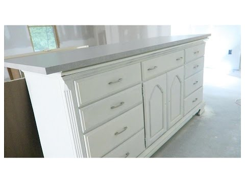 kitchen island made from dresser diy dresser kitchen island basement tour 8197