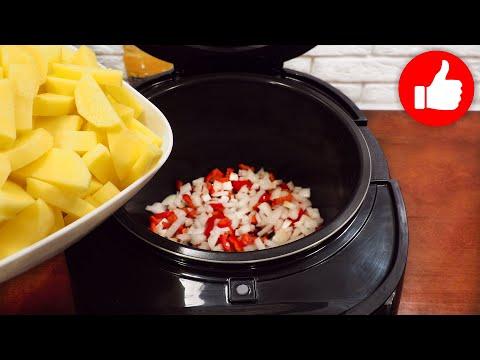 Картошка с болгарским перцем в мультиварке