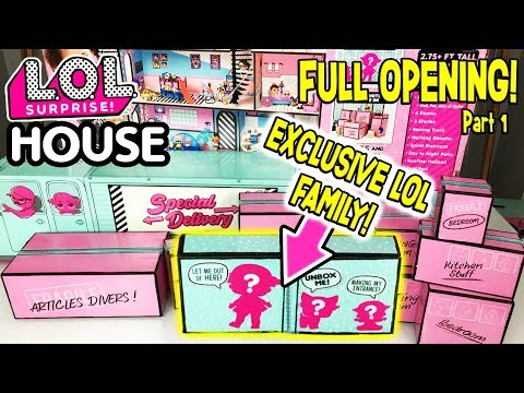 LOL Surprise House Unboxed! Exclusive LOL Dolls Moving Day! | L.O.L Surprise Dollhouse Ep. 1 | LOL