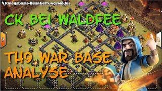 Anti 3 Star War Base (Rathaus 9)   Base Analyse   YouTube Clanwar mit Waldfee   Clash of Clans