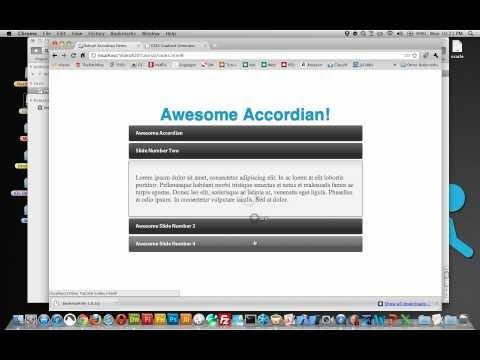 Bonus Tutorial #1: Basics On HTML - We'll Start Building An Accordion Slider