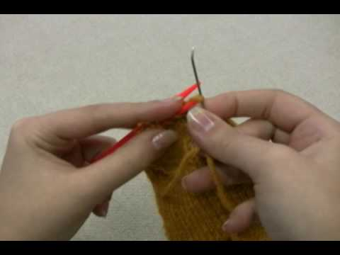 How to Knit Socks: Closing the Toe with Kitchener Stitch