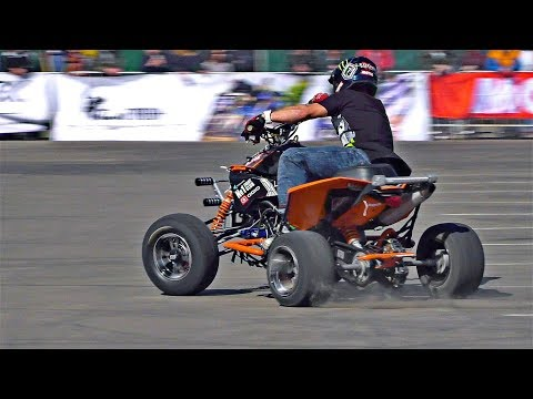 Sick Quad Stunts on KTM 525XC