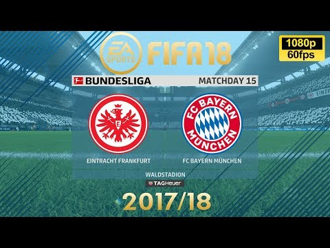 FIFA 18 Eintracht Frankfurt vs Bayern München | Bundesliga 2017/18 | PS4 Full Match