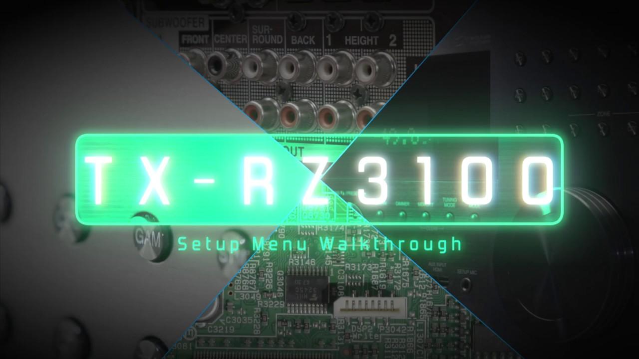 Onkyo TX RZ3100 Setup Menu walkthrough