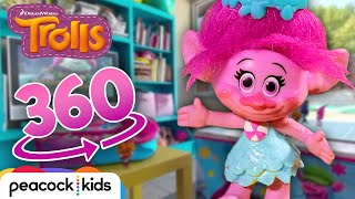 [TROLLS 360° VR] How Many Poppys Can You Find? + More Fun Games! | TROLLS