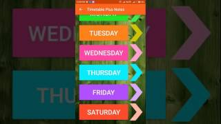 Timetable Plus Notes App : My new Android App