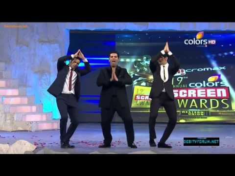 Siddharth Malhotra, Varun Dhawan & Karan Johar's Masti On 19th Colors Screen Awards 2013
