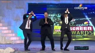 Siddharth Malhotra, Varun Dhawan & Karan Johar's masti on 19th Colors Screen Awards 2013 thumbnail