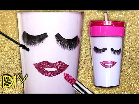DIY Tumbler Cup: Lashes and Lips || Lucykiins