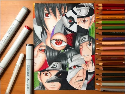 Speed Drawing - Sharingan Users (Naruto Shippuden) [HD]