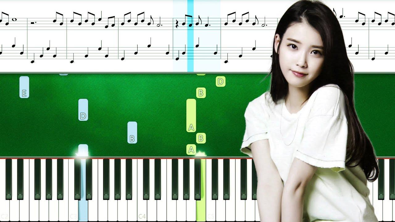 IU - BBIBBI (Piano Tutorial With Sheets | Piano Instrumental | Piano Karaoke)