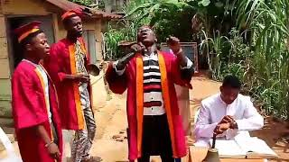 Woliagba's choir sings 'Wo Jesu'  part one