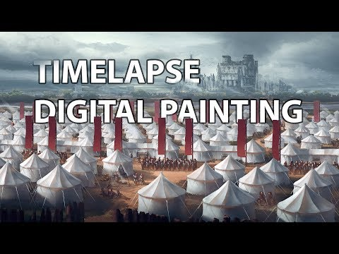 Timelapse Digital Painting – Crimson Sacrifice | architecture concept art illustration speedpainting