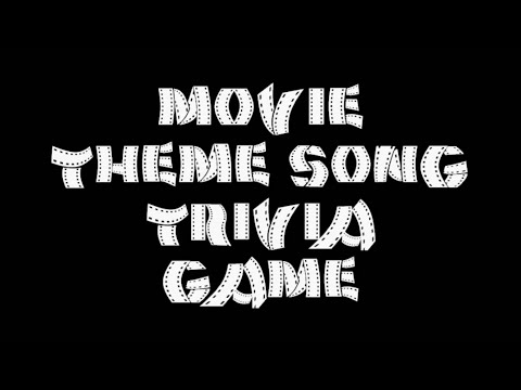 Movie Theme Song Trivia Game - 20 Songs