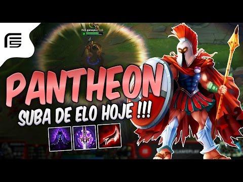 BONECO MAIS FÁCIL PRA SUBIR DE ELO - PANTHEON MID GAMEPLAY - Fiv5 gameplay - [ PT-BR ]