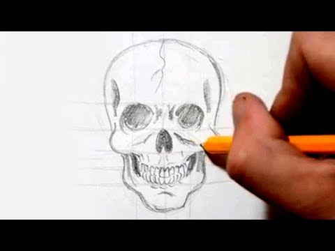 How To Draw Skull In Under Minutes