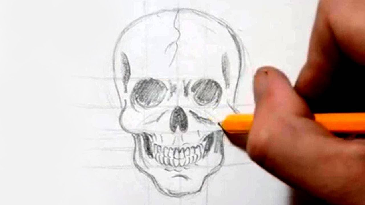 How to draw a skull in under 4 minutes speed drawing youtube voltagebd Image collections