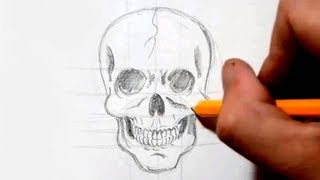 How to Draw a Skull in Under 4 Minutes - Speed Drawing