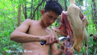 Hunting and Cooking Wild Duck - Water Snake in Duck Stomach ( 5Kg )