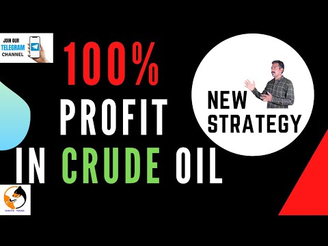 100% PROFIT | IN CRUDE OIL STRATEGY | FOR ALL TRADERS