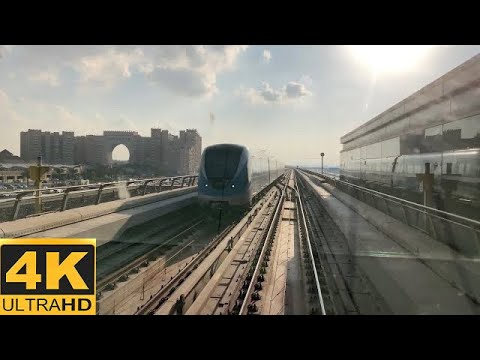 [4K 60fps]Dubai Metro-Journey Between DMCC And UAE Exchange Stations On Red Line