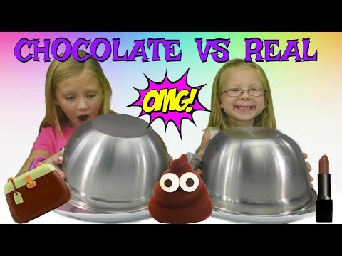 Thumbnail: CHOCOLATE vs REAL!!!