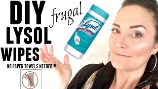 DIY Kitchen LYSOL  CLOROX wipes RECIPE CLEANING Life Hack   HOW TO Make Disinfecting Wipes