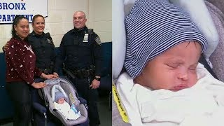 Hero NYPD officers jump into action to save newborn baby's life in the Bronx