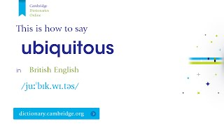 How to say ubiquitous