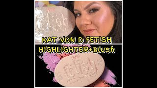 KAT VON D FETISH HIGHLIGHTER & BLUSH PALETTE SWATCHES & REVIEW