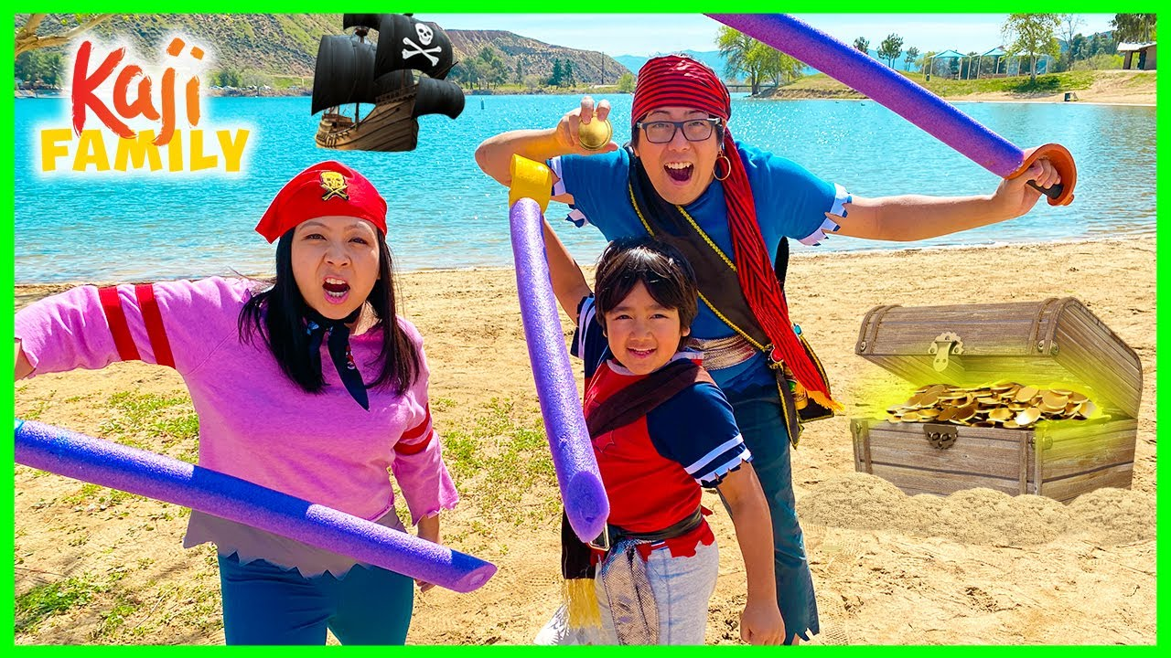 Ryan's Mystery Playdate Behind the Scenes Pirate Adventure to Treasure Island!