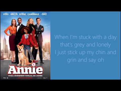 Tomorrow Lyrics (Annie 2014)