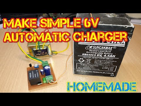 how to make simple 6 volt automatic battery charger at home