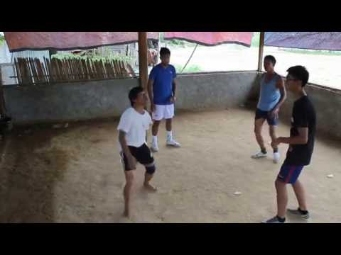 Traveling in Myanmar (Burma)  - Playing Chin Lone (Part 1)