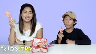 Kids Try Their Adult Siblings' Favorite Childhood Foods | Kids Try | HiHo Kids