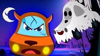 Happy Halloween Song | Halloween Music for Children | Little Red Car Cartoons