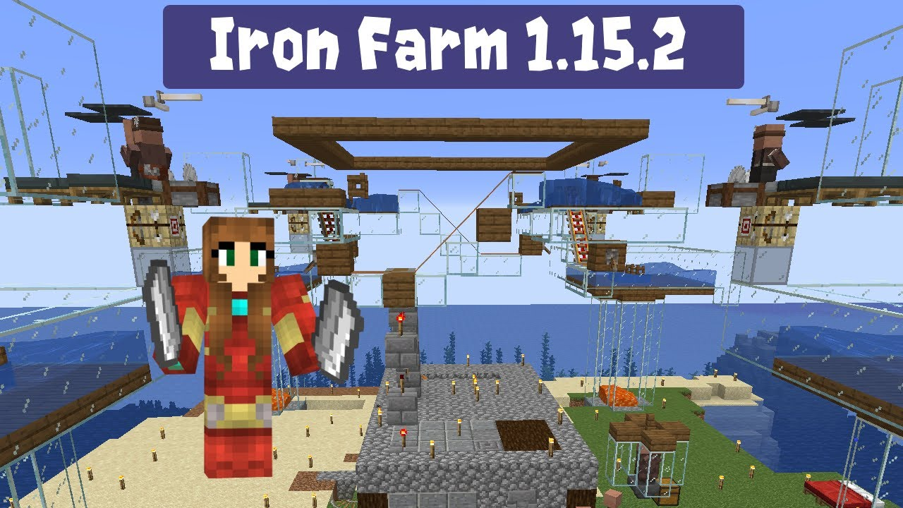 Gnembon S Iron Farm With Fix Works In 1 15 2 1 16 1 Youtube