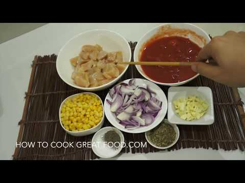 Easy Garlic Chicken Tomato Pasta Recipe - YouTube