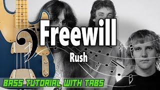 Rush Freewill - BASS Tutorial With Tabs - Play Along.mp3